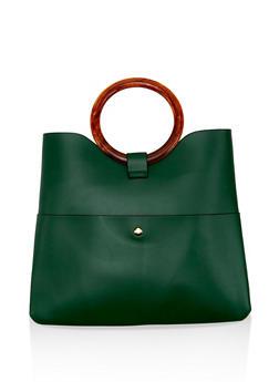 Circular Handle Bag - 1124061595550