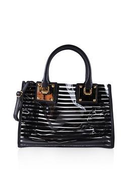 Striped Clear Tote Bag - 1124061596080