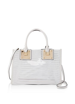Striped Clear Tote Bag - 1124061596080