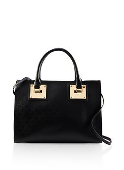 Heart Embossed Faux Leather Bag - 1124061596085