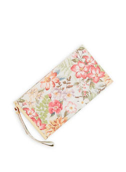 Faux Leather Clutch with Wrist Strap - 1124061596136