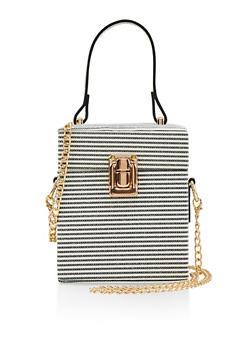 Striped Cube Crossbody Bag - 1124061596609