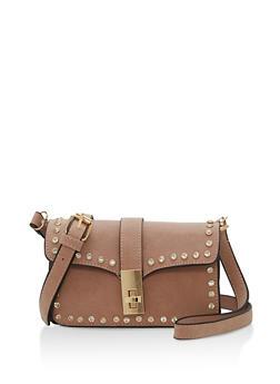 Rhinestone Studded Crossbody Bag - 1124061596780