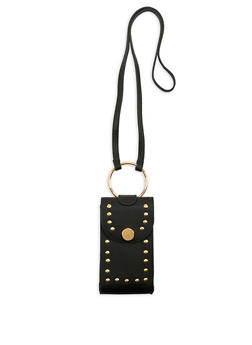 Studded Metallic Ring Crossbody Bag - 1124061596800