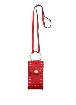 Studded Metallic Ring Crossbody Bag - 1124061596800