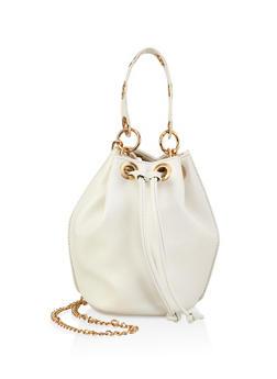 Grommet Detail Bucket Bag - 1124061597358