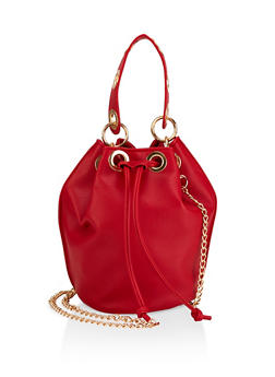 Grommet Detail Bucket Bag - 1124061597358
