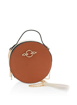 Two Tone Circular Crossbody Bag - 1124061597482