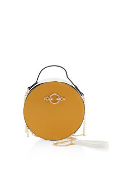 Two Tone Circular Crossbody Bag - 1124061597482