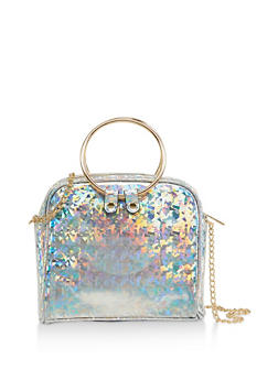 Square Holographic Crossbody Bag - 1124061597510