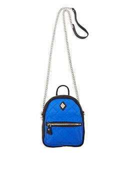 Mini Backpack Crossbody Bag - COBALT - 1124061597550