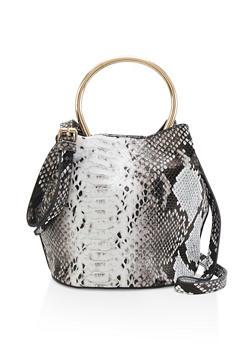 Snake Print Bucket Bag - 1124061597600