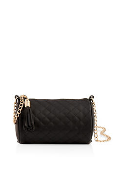 Quilted Barrel Crossbody Bag - 1124061597830