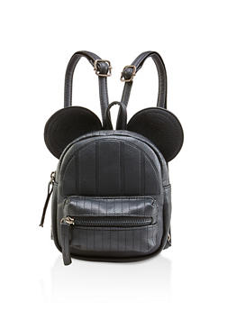 Animal Ear Mini Faux Leather Backpack - 1124067440023