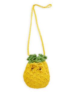 Pineapple Straw Crossbody Bag - 1124067440208