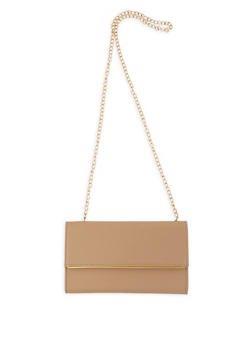 Faux Leather Crossbody Bag - 1124067442108
