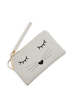 Embroidered Cat Clutch - 1124067446996