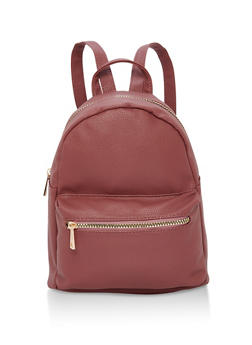 Small Double Zip Backpack - MAUVE - 1124067447004
