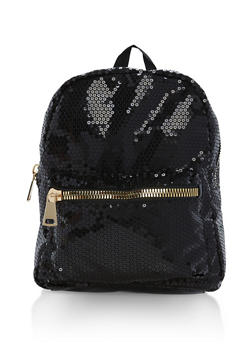 Sequin Zipper Backpack - 1124067447013
