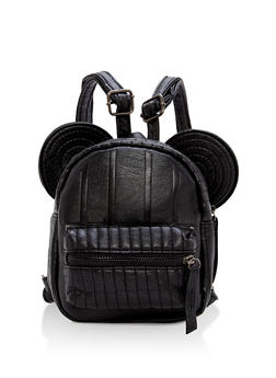 Textured Faux Leather Mouse Ears Mini Backpack - 1124067447023