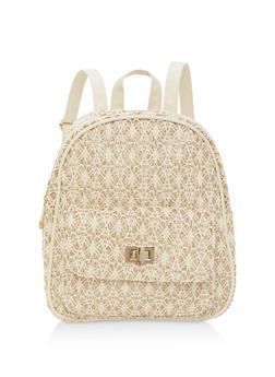 Glitter Crochet Backpack - 1124067448003