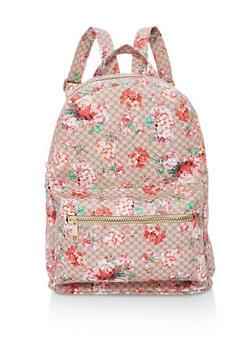 Floral Zip Backpack - 1124067448005