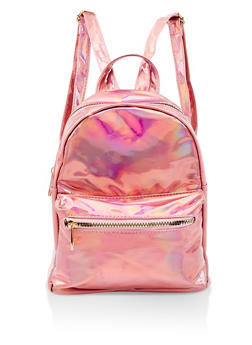Holographic Faux Leather Backpack - 1124067448028