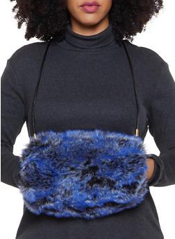 Faux Fur Muff Crossbody Bag - 1124067448031