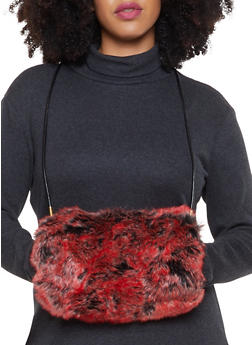 Faux Fur Muff Crossbody Bag - 1124067448031