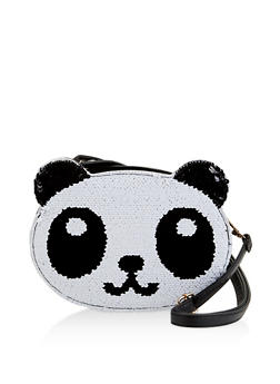 Reversible Sequin Panda Crossbody Bag - 1124067448036
