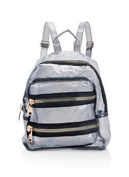 Clear Fishnet Backpack - BLACK - 1124067448071