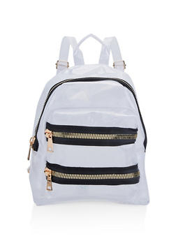 Clear Fishnet Backpack - WHITE - 1124067448071