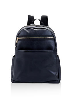 Faux Leather Backpack - 1124067448074