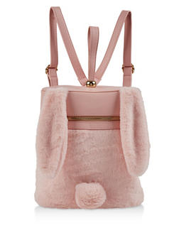 Faux Fur Bunny Backpack - 1124067448077