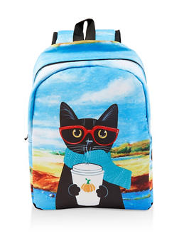 Cat Graphic Backpack - 1124067448080