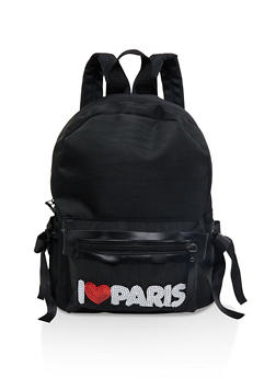 Sequin Paris Patch Backpack - 1124067448084