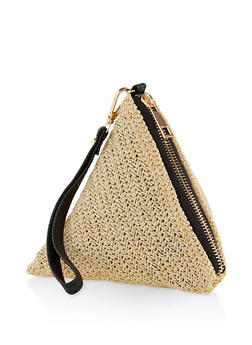 Straw Pyramid Wristlet - 1124067448092