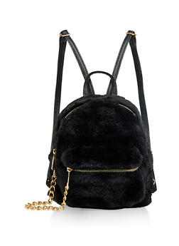 Small Faux Fur Backpack - 1124067448877