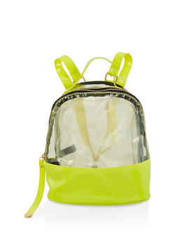 Clear Color Block Backpack - YELLOW - 1124067448887