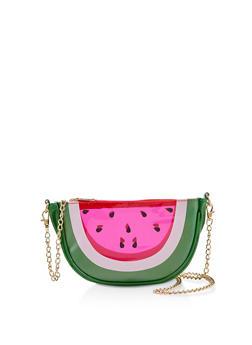 Watermelon Slice Crossbody Bag - 1124067449005