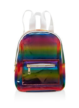 Small Clear Rainbow Backpack - 1124067449020