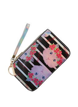 Hello Spring Cat Graphic Clutch - 1124067449030