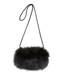 Faux Fur Muff Crossbody Bag - 1124067449031