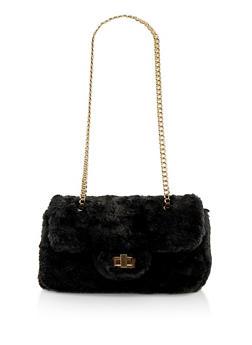 Faux Fur Crossbody Bag - 1124067449036
