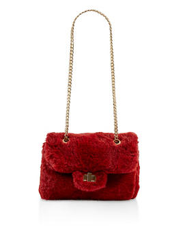 Faux Fur Crossbody Bag - 1124067449036