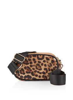 Leopard Double Zip Crossbody Bag - 1124067449051