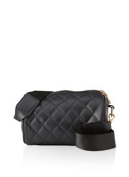 Quilted Crossbody Barrel Bag - 1124067449052