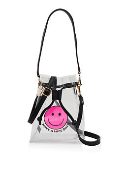 Have A Nice Day Clear Bucket Bag - 1124067449063