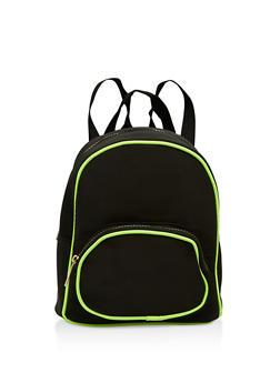 Contrast Trim Backpack - 1124067449118