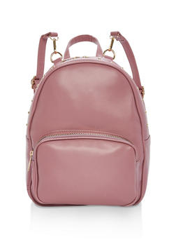 Studded Edge Faux Leather Backpack - 1124073330501